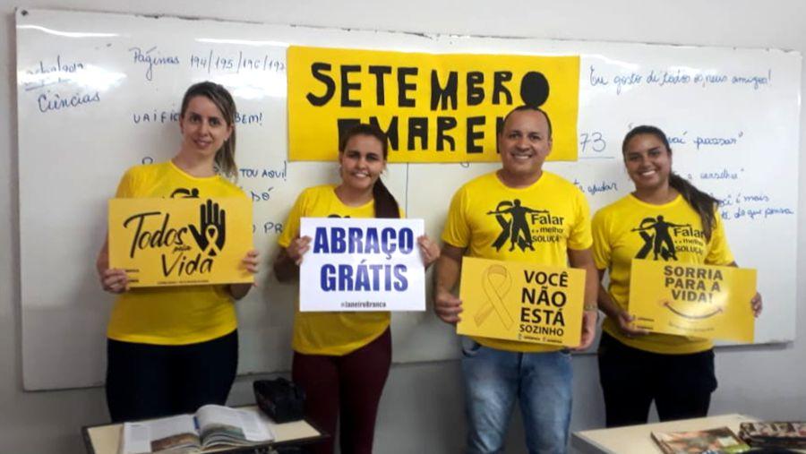 Ação ocorreu na Escola Governador Juscelino em Capinópolis (Foto: Divulgação)
