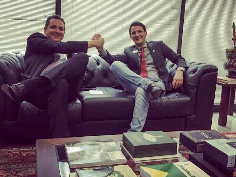 (esq) Rodrigo Pacheco e Luciano Belchior (Foto: Gabinete/Rodrigo Pacheco)
