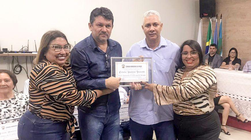 Marcilene Cristina, Adriano Oliveira, Diomar Honório e Michelle Pereira (Foto: Arquivo pessoal)