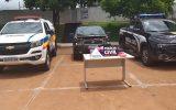 Droga apreendida estava em um compartimento secreto do veículo— Foto: PMMG/Divulgação