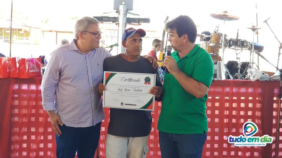 (Esq) Jaisson Souza, Luiz Lopes e Cleidimar Zanotto (Foto: Paulo Braga)