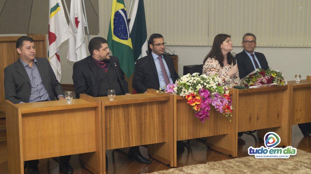 Dra. Maria Caroline Silveira Beraldo durante discurso (Foto: Gabriel Kazuto/Tudo Em Dia)