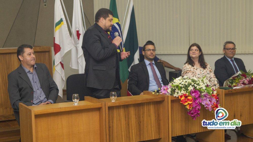 Alexandre Santos Gomes durante discurso (Foto: Gabriel Kazuto/Tudo Em Dia)