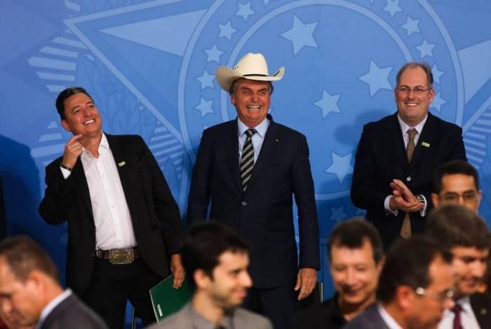 Presidente Jair Bolsonaro se encontra com sertanejos no Palácio do Planalto - Antonio Cruz/ Agência Brasil