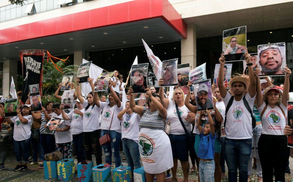 Protesto contra a mineradora Vale, em Belo Horizonte, no dia 20 de janeiro de 2020.WASHINGTON ALVES / REUTERS (REUTERS)