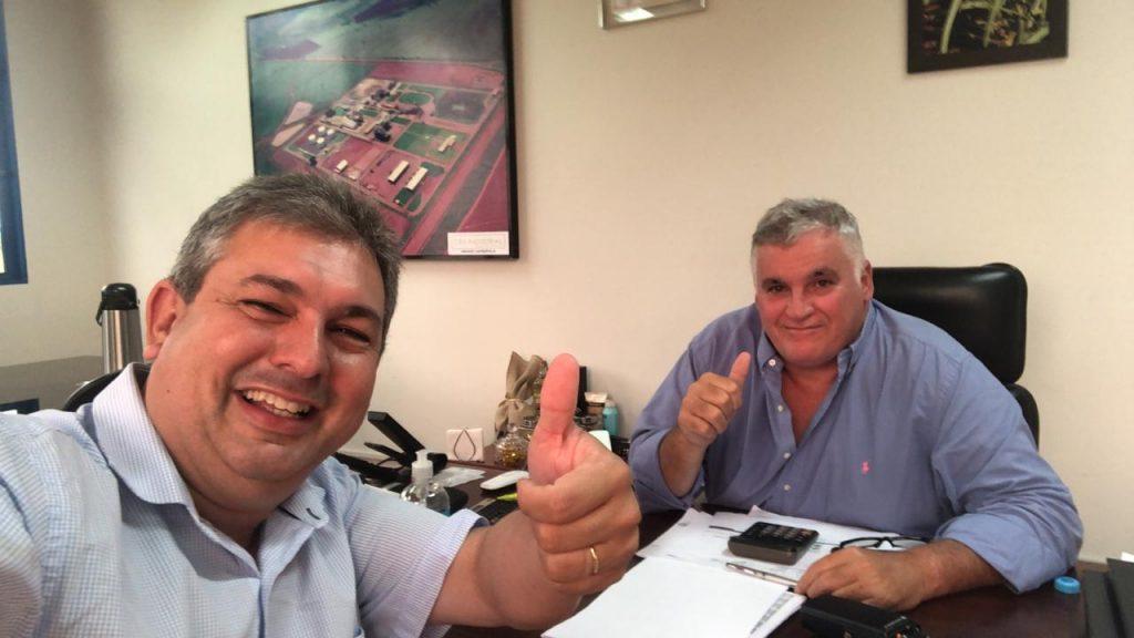 (Esq) Leandro Luiz e Paulo  Filho (Foto: Leandro Luiz)