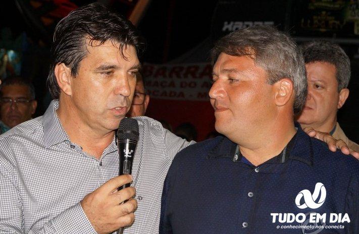(Esq) Cleidimar Zanotto e Jaisson durante a abertura da Expocap 2017 (Foto: Paulo Braga/Arquivo Tudo Em Dia)