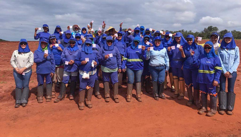 Colaboradoras do setor rural (Foto: Divulgação)