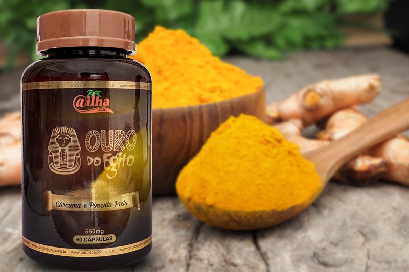Ouro do Egito é um suplemento poderoso à base de cúrcuma e pimenta preta (Imagem: emLOOP/Tudo Em Dia)