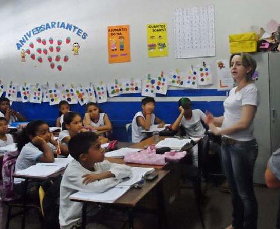 Alessandra Pidruca nos tempos em que atuava como professora | Foto: Arquivo Pessoal
