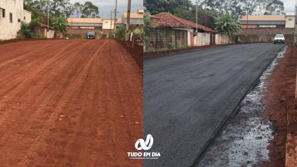 Rua Monte Alegre foi asfaltada | Foto: Divulgação