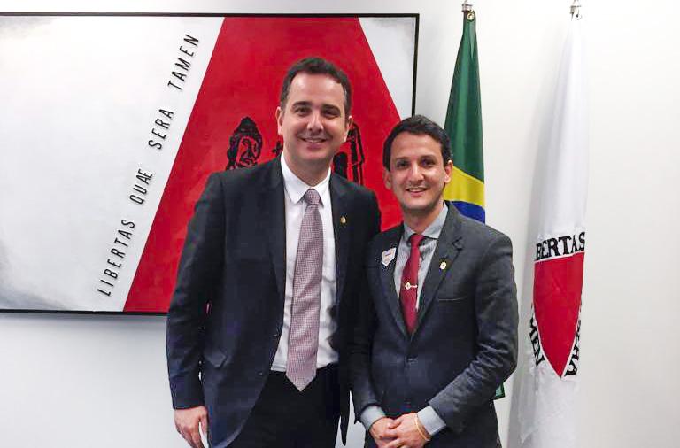 (Esq) Senador Rodrigo Pacheco e Luciano Belchior | Foto: Divulgação