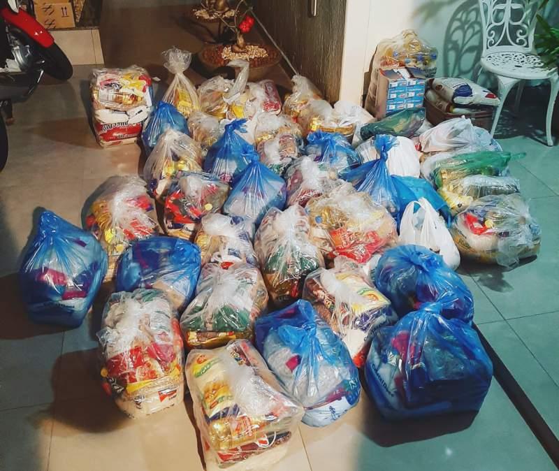Ação da escolinha Camisa 10 arrecadou cerca de 650kg de alimentos | Foto: João Neto