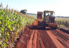 Obras na estrada rural na região da 'Baixada' | Foto: Divulgação