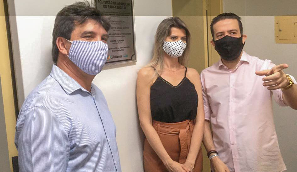 (Esq) Cleidimar Zanotto, Sandra Barbosa e André Janones | Foto: Divulgação