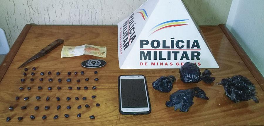Droga apreendida pelos militares   Foto: PMMG/Divulgação