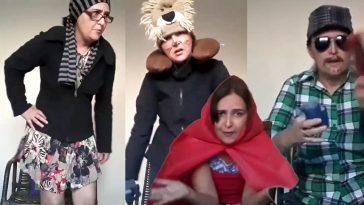 A professora Luciana Malaquias interpretou os personagens do livro 'Chapeuzinho Vermelho' | Foto: Reprodução