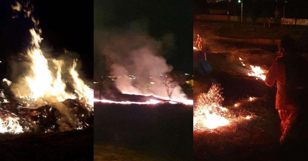 A maioria das queimadas são criminosas   Foto: Bombeiros