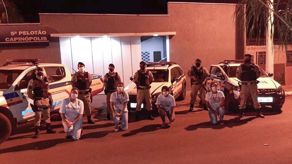 Policiais Militares e agentes de fiscalização atuaram na operação | Foto: Tudo Em Dia