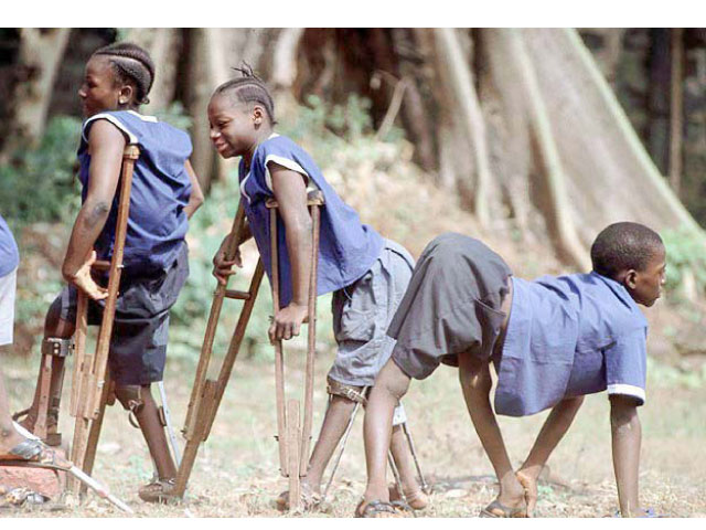 Polio victims from Nigeria. Credit: Premium Nigeria Times