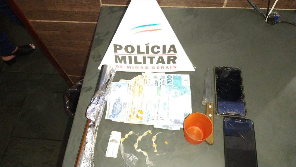 Material apreendido durante a operação   Foto: PMMG