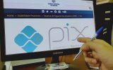 Tela do sistema do Banco Central exibe logo do Pix   Foto: Tudo Em Dia