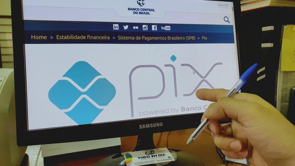 Tela do sistema do Banco Central exibe logo do Pix | Foto: Tudo Em Dia