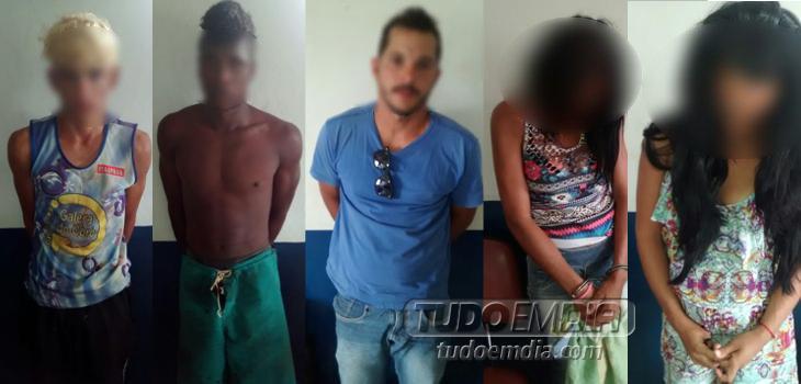Suspeitos detidos pela PMMG