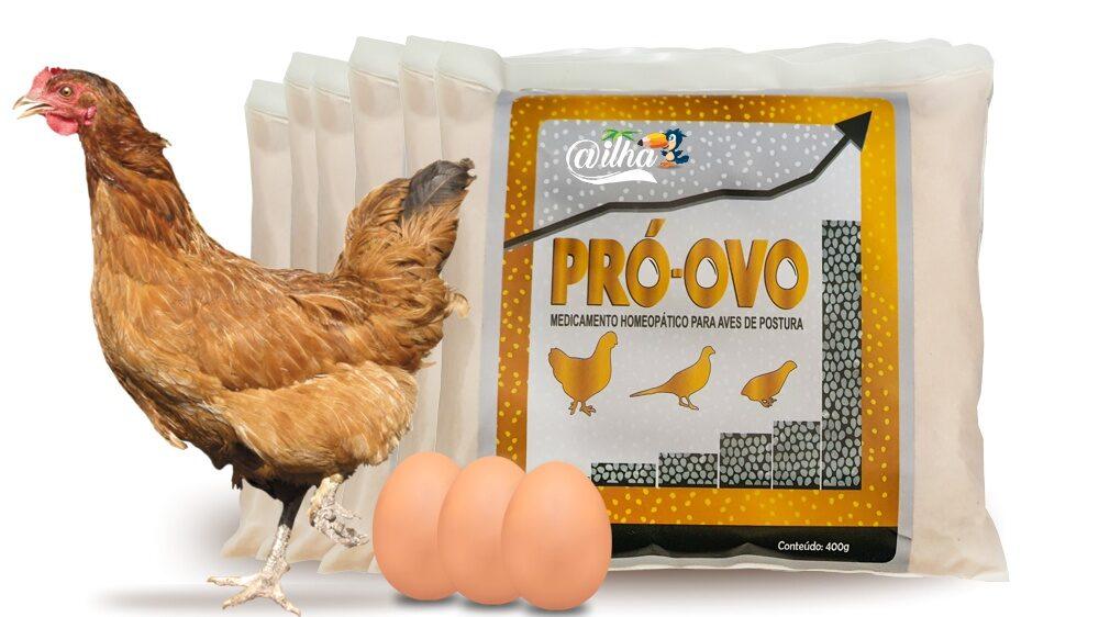 Você encontra o Pró-ovo em embalagem de 400g na A Ilha